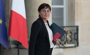 La ministre des Outre-Mer Annick Girardin le 27 février 2019 à l'Elysée.