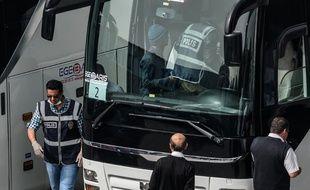 Illustration d'un bus de migrants en Turquie.