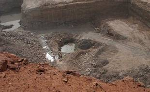 La mine d'uranium d'Arlit, exploitée au Niger par Areva.
