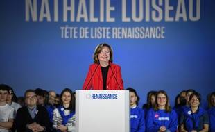 Nathalie Loiseau, tête de liste LREM pour les élections européennes, le 6 mai à Caen, lors d'un meeting.