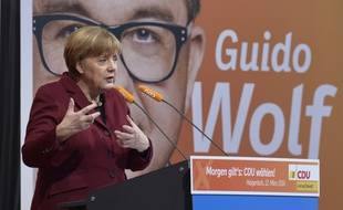 La chancelière allemande Angela Merkel le 12 mars 2016
