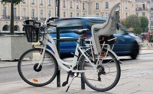 Un vélo électrique proposé à la location longue durée par Keolis, pour le compte de Rennes Métropole.