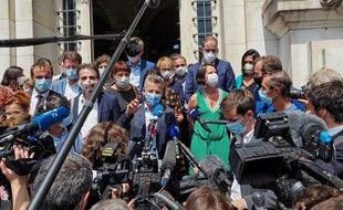 Lors d'une rencontre entre les maires PS et EELV à Tours, en juillet 2020. (archives)