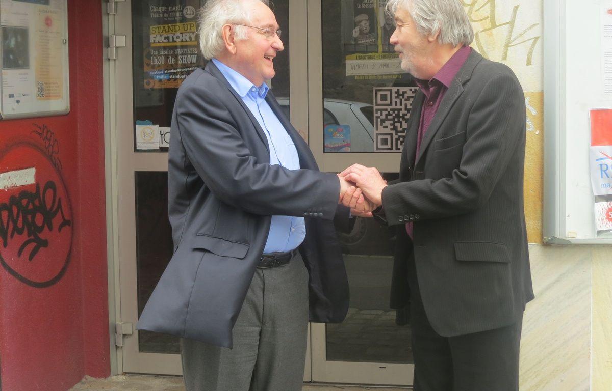 Rencontre fructueuse entre Patrick Fourreau et Jacques Cheminade. – G. Clémençon/20 Minutes