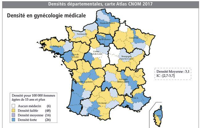 Selon les chiffres du conseil national de l'Ordre des médecins, au 1er janvier 2017 seuls 1.136 gynécologues médicaux étaient recensés en France.