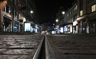 Le couvre-feu, ici dans les rues de Strasbourg.
