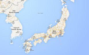 Carte de localisation de Tokyo (Japon).