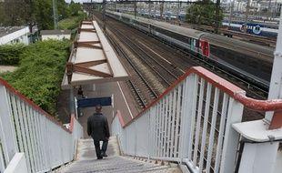 La gare Les Ardoines à Vitry-sur-Seine sur le RER C.