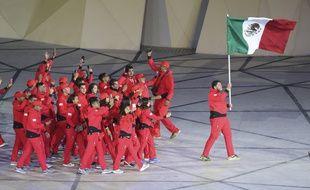 Les athlètes mexicains lors de la cérémonie d'ouverture des Jeux panaméricains