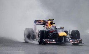 Le pilote de F1 Mark Webber en Australie, lors d'un Grand Prix le 9 octobre 2010.