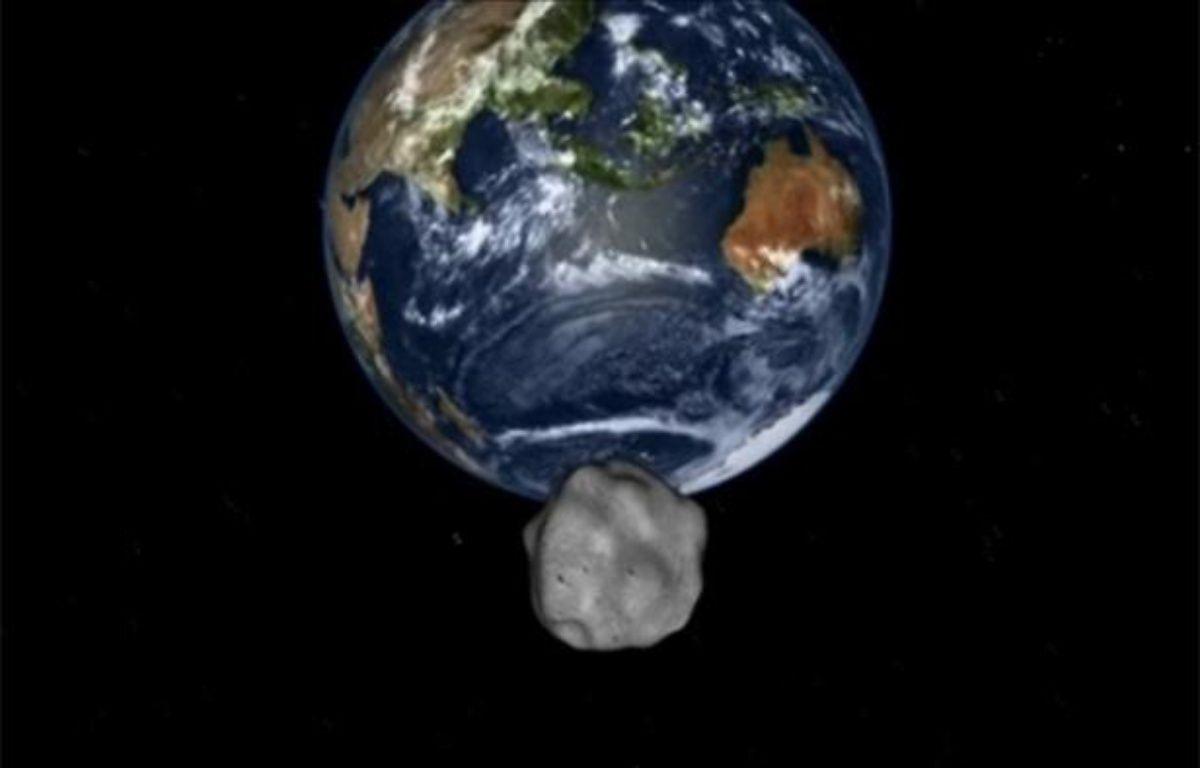 Simulation par la Nasa de l'arrivée de l'astéroïde 2012-DA14 près de la Terre, le 15 février 2013. – Capture d'écran - Nasa