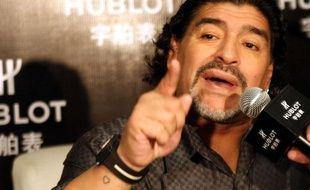 Diego maradona, le 17 janvier 2011, à Shanghaï.