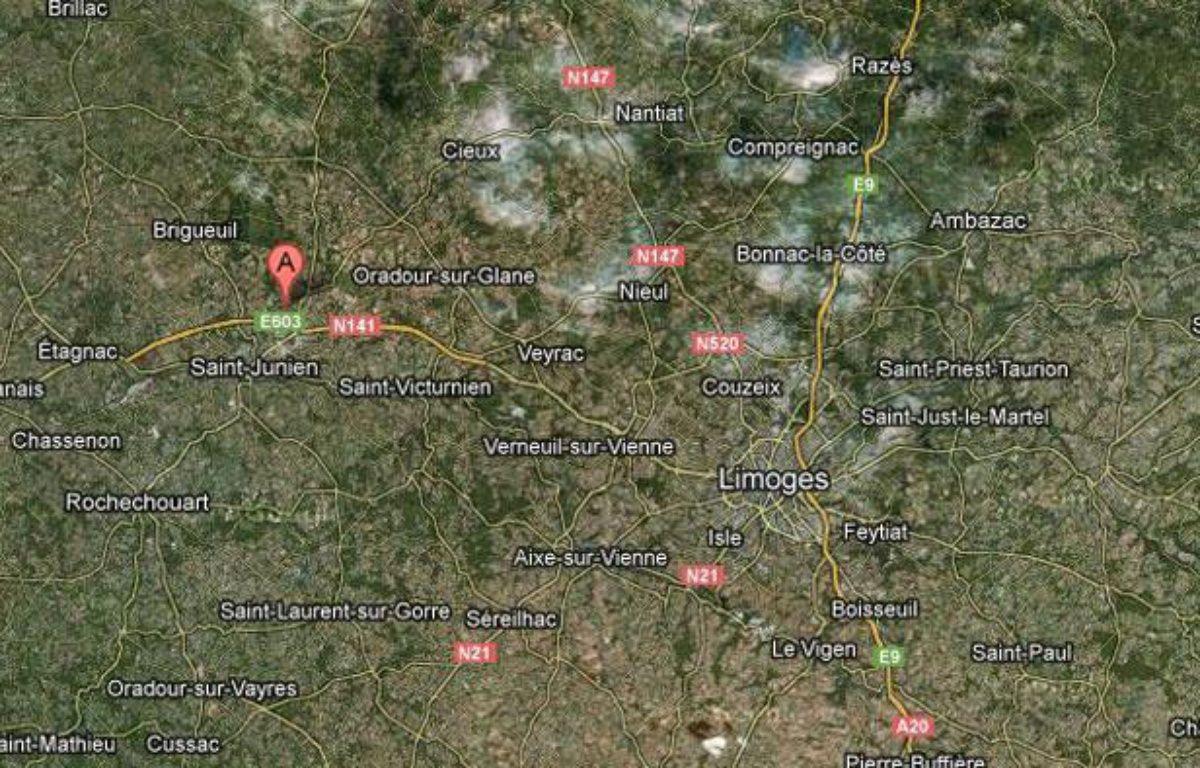 Saint-Junien, près de Limoges. – GOOGLE MAPS