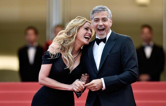 Julia Roberts et George Clooney à Cannes le 12 mai 2016.