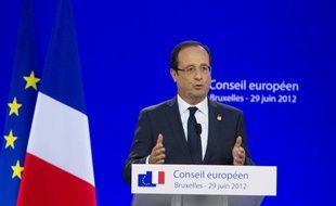 François Hollande lors du sommet européen de Bruxelles, les 28 et 29 juin derniers