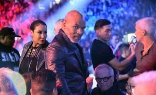 Mike Tyson avant le combat entre Deontay Wilder et Tyson Fury à la MGM Grand Garden Arena de Las Vegas, le 22 février 2020.