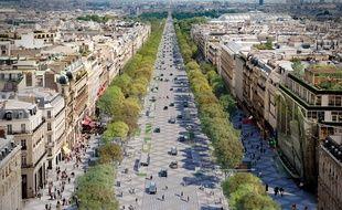 Les Champs-Elysées imaginés par le cabinet d'architecte de Philippe Chiambaretta.