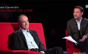 Capture écran de Jean-François Copé, député LR de Meaux. © Dominique Jacovides - Bestimage. France 3