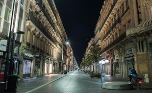 """Le centre-ville de Toulouse au """"jour 3"""" du confinement."""