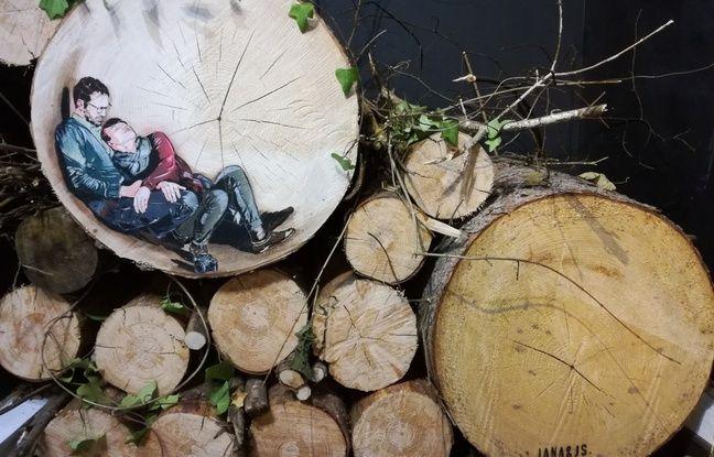 Une oeuvre sur bois des Autrichiens Jana & JS.