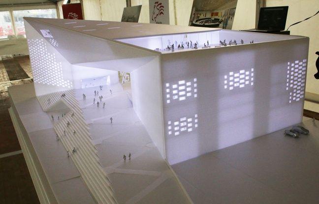 Maquette de la Meca, Maison de l'économie créative et culturelle, présentée à Bordeaux le 2 février 2017