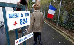 Lille, le 23 mars 2014. Illustration sur le vote pour le 1er tour des Žlections municipales à Lille.