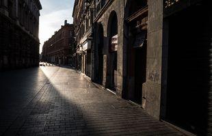 Le centre-ville de Toulouse, le 21 mars 2020.
