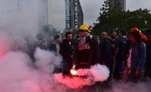 Manifestation contre la loi Travail le 12 septembre 2017 à Paris.