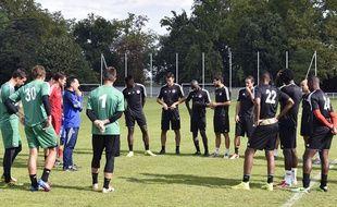 Les joueurs de Luzenac à l'entraînement le 8 août 2014.