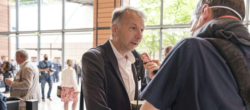 Bruno Bernard, ici le 2 juillet pour son élection en tant que président de la métropole de Lyon.
