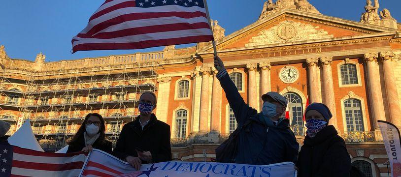 Les Démocrates américains ont fête symboliquement sur la place du Capitole l'investiture de Joe Biden.