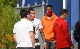 Les joueurs du PSG ont fait leur retour au Camp des Loges
