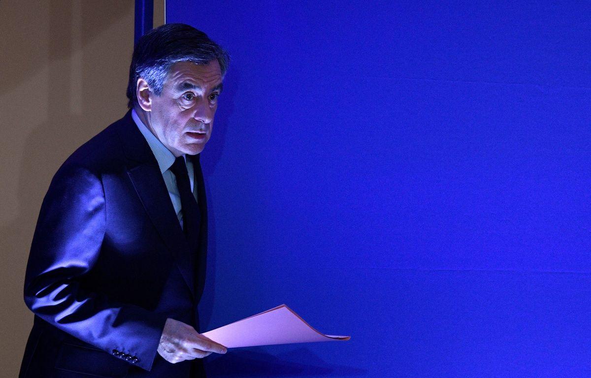 Paris, le 6 Février 2017. François Fillon lors d'une allocution à son quartier général. – Martin BUREAU / AFP