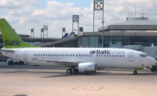 Illustration d'un avion de la compagnie Air Baltic