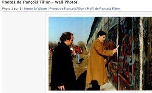 Capture d'écran de la photo de François Fillon, postée sur son profil Facebook