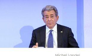 Michel Landel, PDG de Sodexo, leader mondial des services aux entreprises, le 13 novembre 2014 à Paris