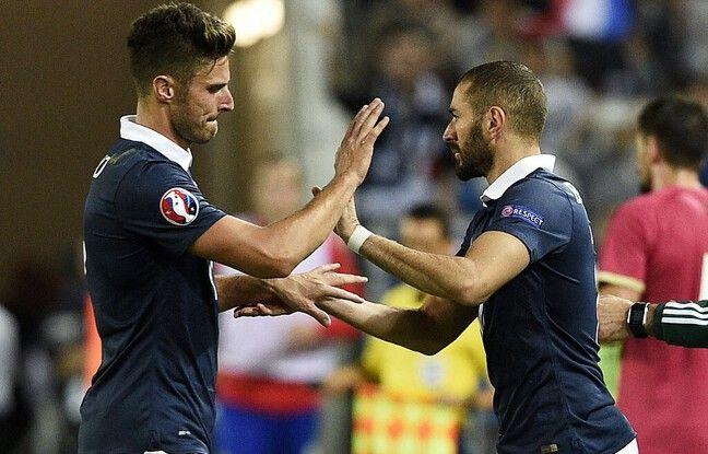Benzema et Giroud vont se retrouver tous les deux en Bleu, près de six ans après la dernière apparition du Madrilène sous le maillot de l'équipe de France.