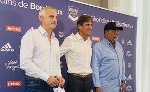 Le nouveau trio à la tête des Girondins : Alain Roche, Frédéric Longuépée et Jean-Louis Gasset.