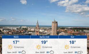 Météo Dunkerque: Prévisions du vendredi 23 juillet 2021
