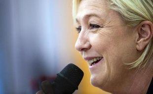 La présidente du Front national Marine Le Pen le 23 janvier 2015 à Seloncourt, dans le Doubs