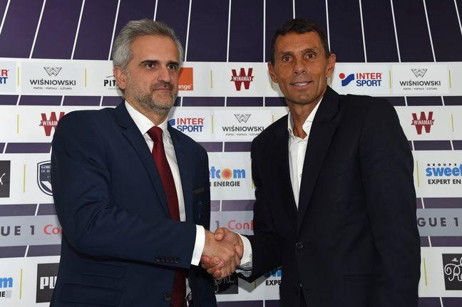 Stéphane Martin avec le nouvel entraîneur des Girondins, Gustavo Poyet.