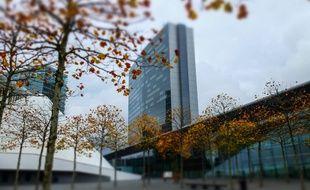 Le centre de conférence du Kirchberg, siège du Conseil de l'Union Européenne, à Strasbourg, le 5 novembre 2014.