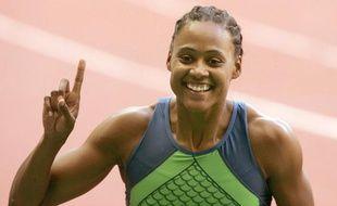 L'athlète américains Marion Jones, le 8 juillet 2006 au Stade de France, pour le meeting de Paris.