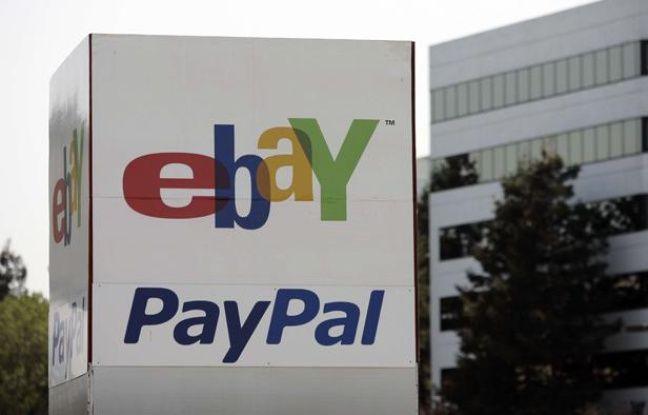 Devant les locaux d'eBay et PayPal à San José, en Californie.