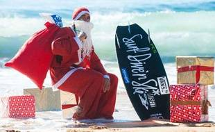 Plus vous surfer, plus le père Noël a le temps de surfer.