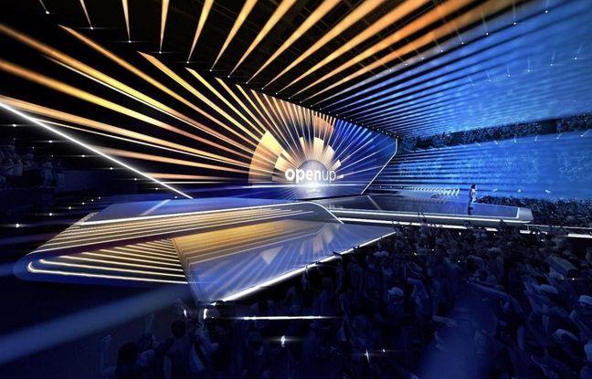 La scène envisagée pour l'Eurovision 2020.