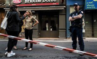 Lyon, à l'endroit de l'explosion