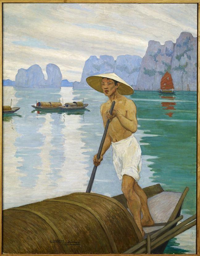 «Baie d'Along» par Lucien Lièvre, actuellement au musée du quai Branly.