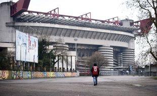 Le stade San Siro, à Milan, le 3 mars 2020.