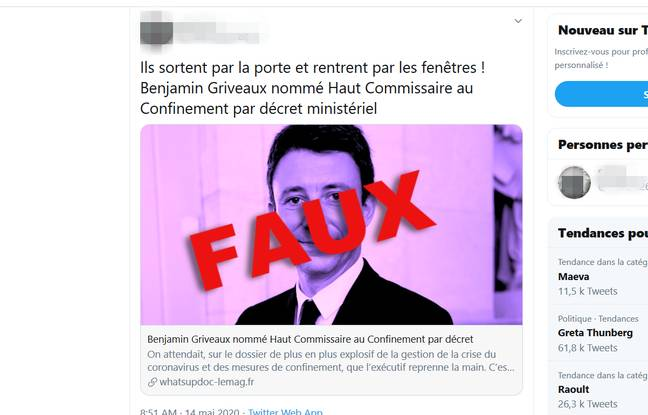 Coronavirus: Non, Benjamin Griveaux n'a pas été nommé Haut Commissaire au confinement